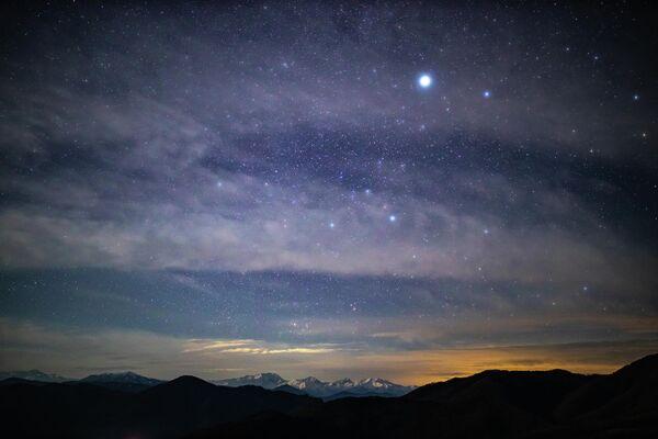 Звездное небо в Кавказском государственном природном биосферном заповеднике в Адыгее
