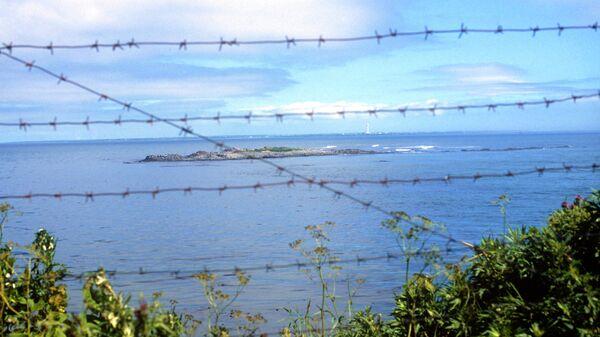 Вид на пролив Советский в Тихом океане, который разделяет Россию и Японию.