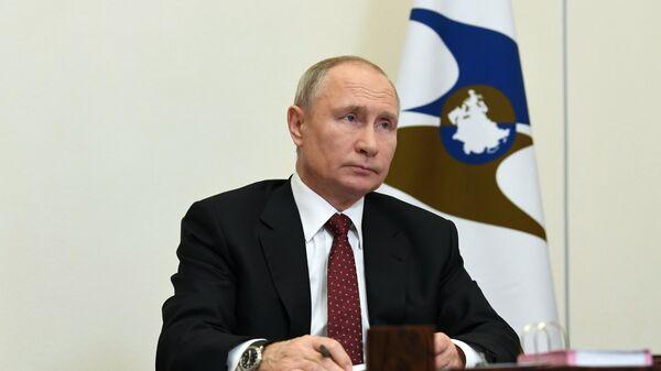Президент РФ Владимир Путин принял участие в заседании ВЕЭС