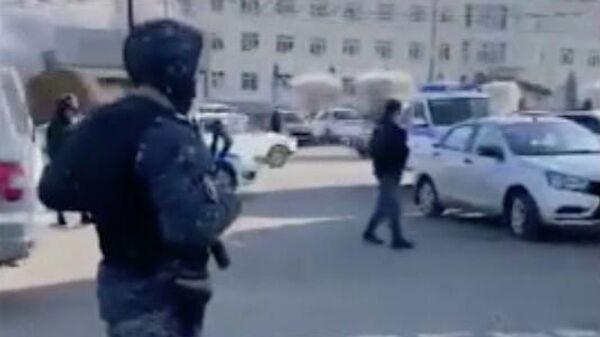 Кадр видео с места взрыва в селе Учкекен Карачаево-Черкесской Республики