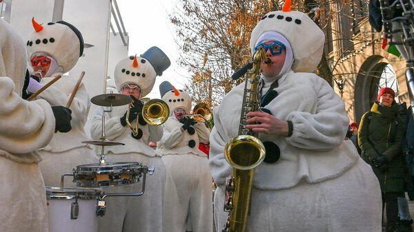 В Калуге открылась праздничная площадка Рождество на Старом торге