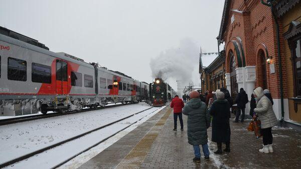 Открытие обновленного железнодорожного вокзала