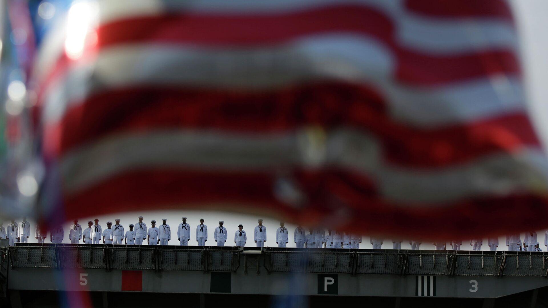 Команда авианосца Рональд Рейган ВМС США - РИА Новости, 1920, 12.01.2021