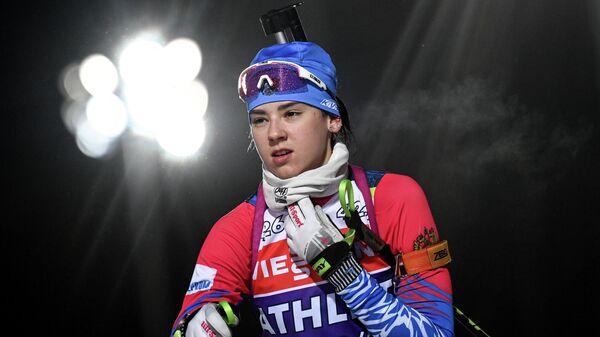 Биатлонистка Анастасия Гореева (Россия)