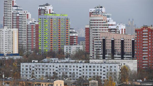 Жилой массив в районе Хорошёво-Мнёвники в Москве.