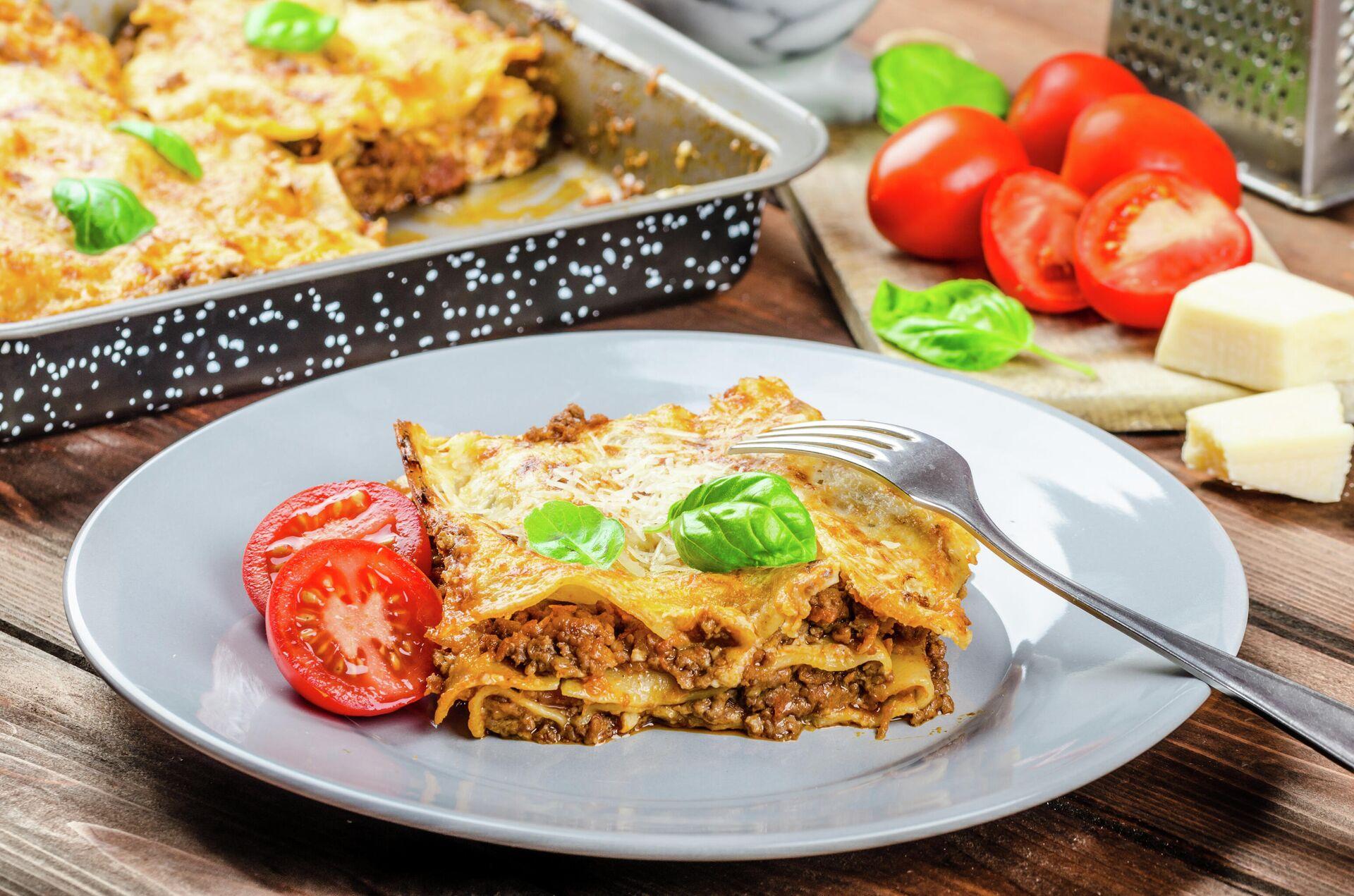Итальянское блюдо Lasagna bolognese - РИА Новости, 1920, 24.12.2020