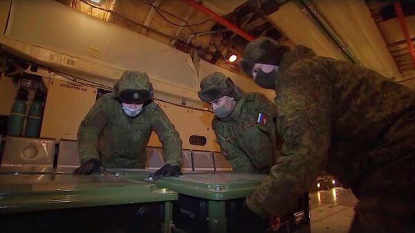 Переброска медотряда специального назначения Минобороны России в Республику Крым. Кадр видео