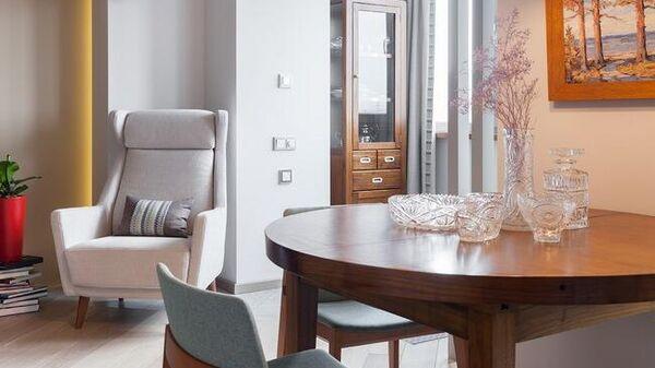 Ретро-хрусталь в интерьере современной квартиры