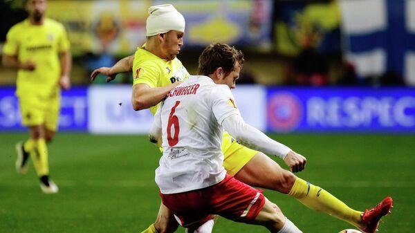 Денис Черышев в матче с австрийским Ред Буллом.