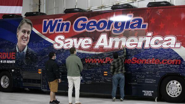 Предвыборная кампания сенатора Дэвида Пердью в Атланте, Джорджия