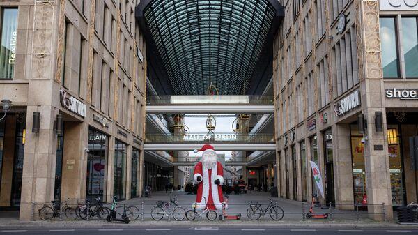 Торговый центр Mall of Berlin во время общенационального локдауна из-за второй волны пандемии коронавируса