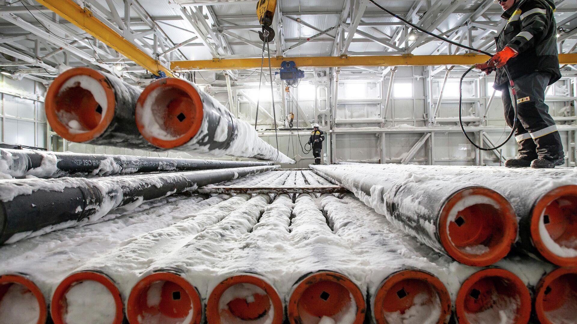 Рабочие на нефтеперерабатывющем заводе - РИА Новости, 1920, 11.05.2021