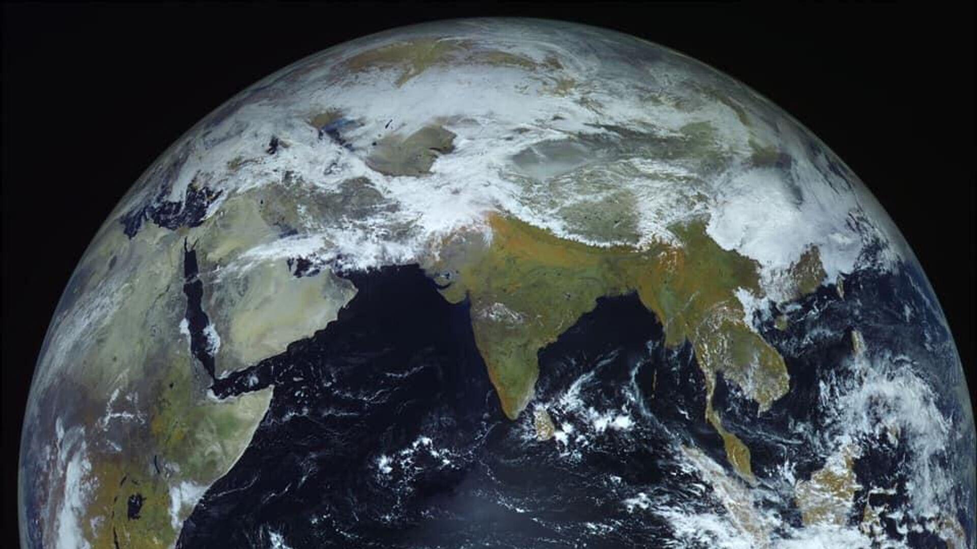 Фотография Земли, сделанная космическим аппаратом Электро-Л - РИА Новости, 1920, 08.01.2021