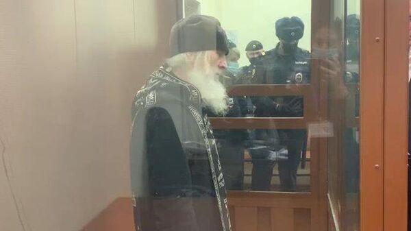 Бывший схимонах Сергий арестован на два месяца. Кадры из зала суда
