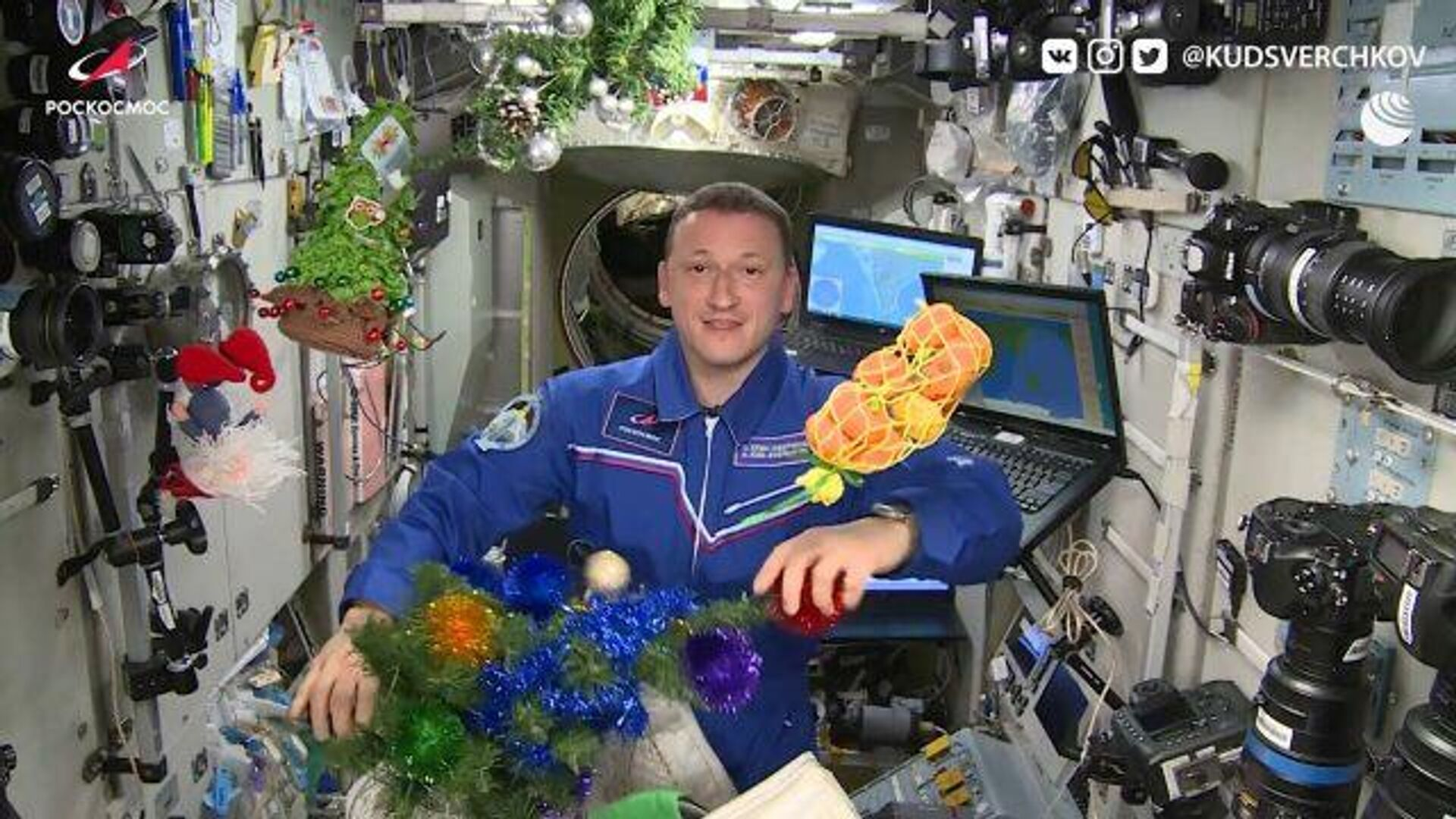 Космический Новый год: как на МКС готовятся к празднику - РИА Новости, 1920, 31.12.2020