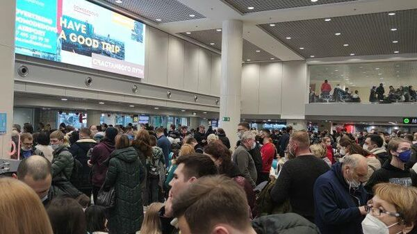 Пассажиры ждут отмененные рейсы в Домодедово