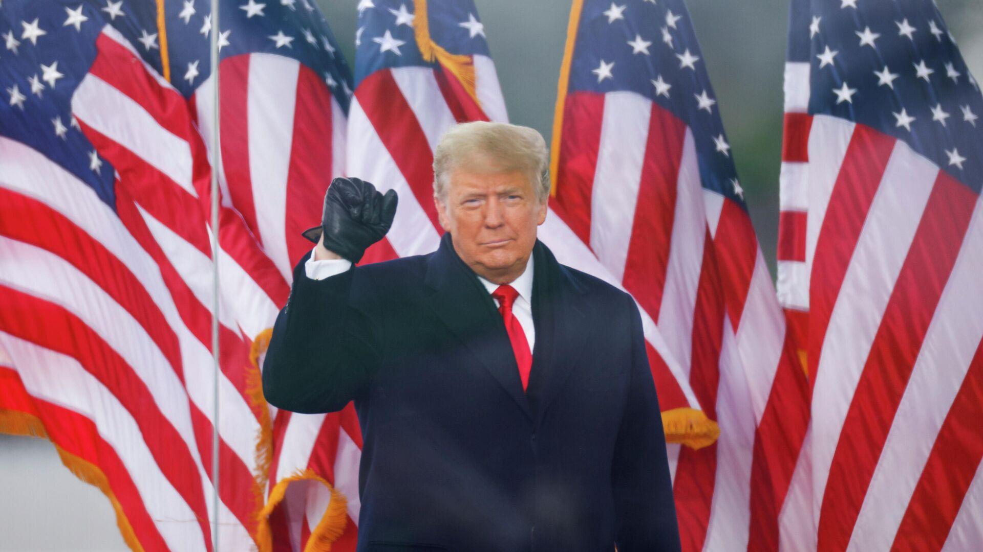 Президент Дональд Трамп выступает на митинге в Вашингтоне - РИА Новости, 1920, 06.01.2021