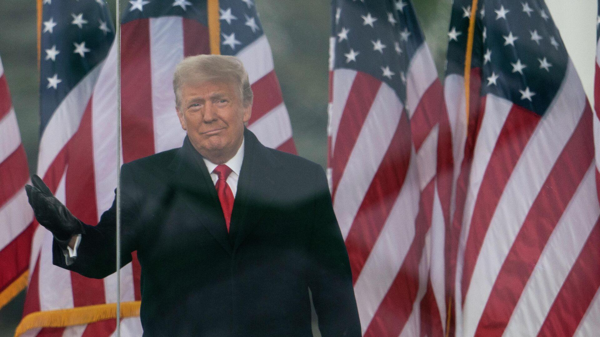 Президент Дональд Трамп выступает на митинге в Вашингтоне - РИА Новости, 1920, 08.01.2021