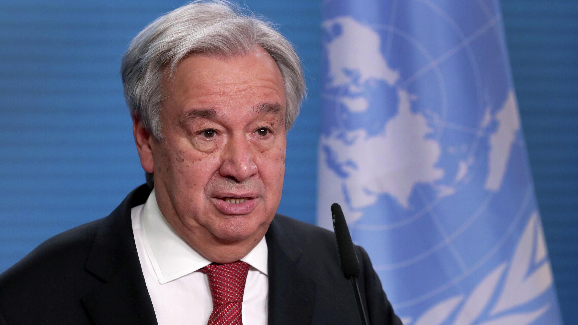 Генеральный секретарь ООН Антониу Гутерреш - РИА Новости, 1920, 10.01.2021