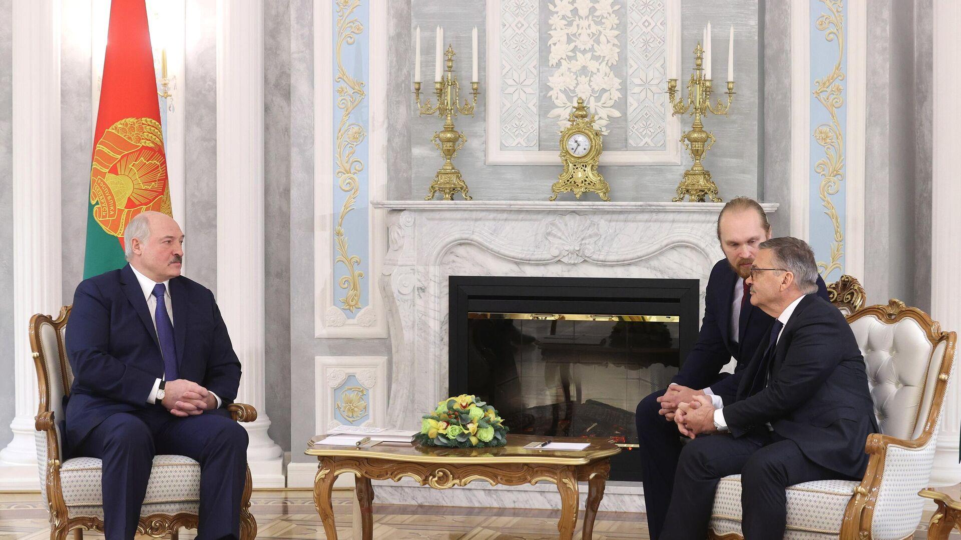 Александр Лукашенко (слева) и Рене Фазель (справа) - РИА Новости, 1920, 11.01.2021