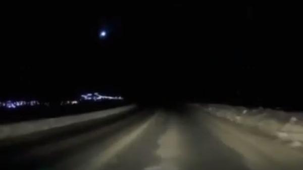 Метеорит над Камчаткой