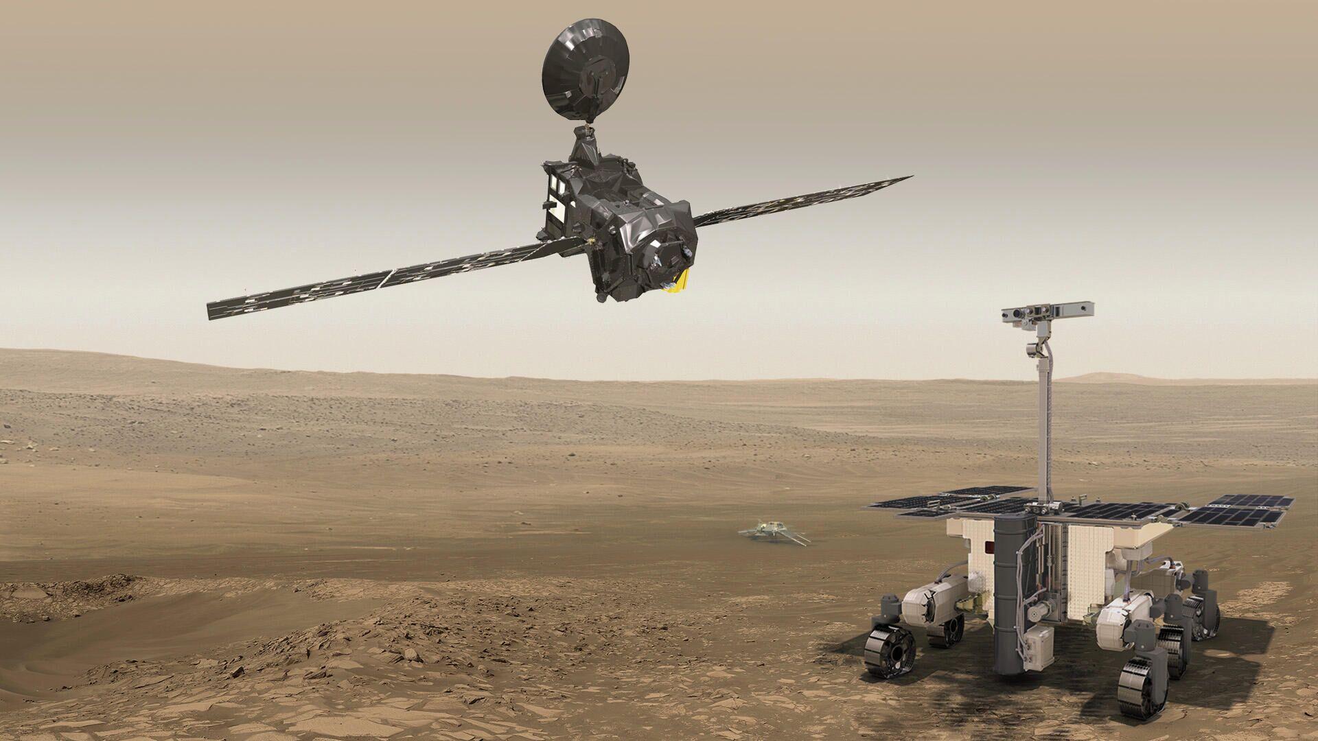 Миссии ЭкзоМарс-2016 и ЭкзоМарс-2022 в представлении художника - РИА Новости, 1920, 19.01.2021