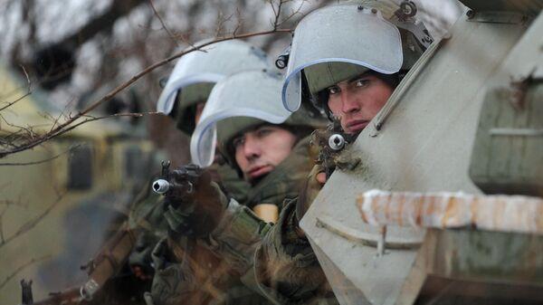 Учения инженерно-штурмового подразделения ЮВО в Ростовской области