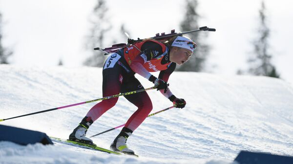 Биатлонистка Ингрид Тандревольд (Норвегия)