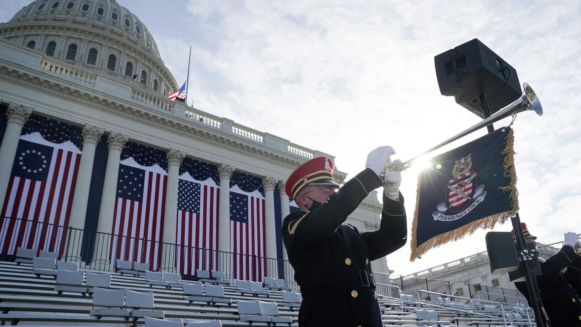 Репетиция инаугурации избранного президента США Джо Байдена  - РИА Новости, 1920, 20.01.2021