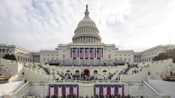 Подготовка к генеральной репетиции инаугурации избранного президента США Джо Байдена в Вашингтоне, округ Колумбия