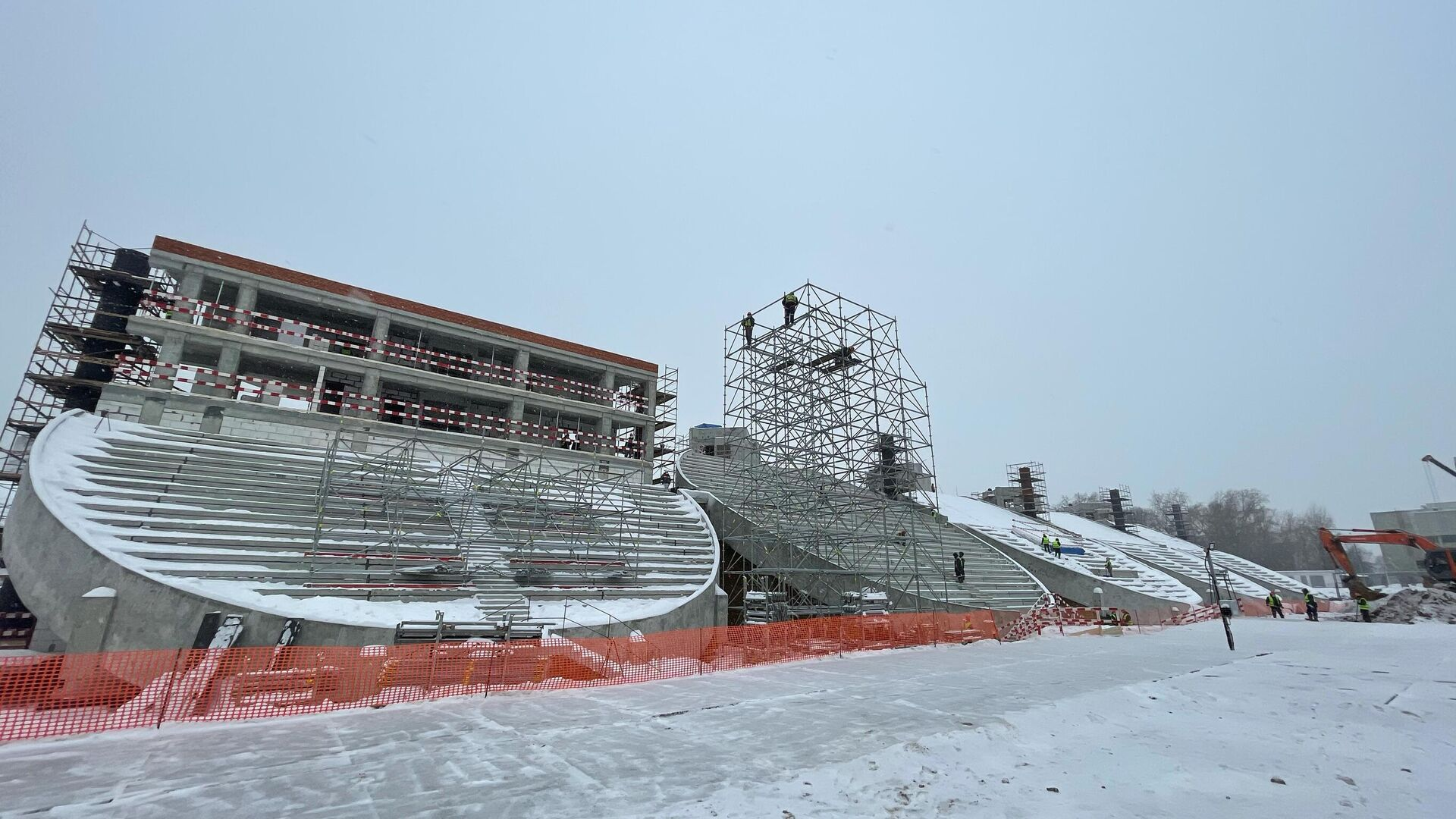 Реконструкция стадиона Москвич - РИА Новости, 1920, 21.01.2021