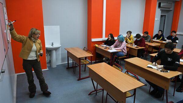 Учебное занятие в колледже предпринимательства №11 в Москве