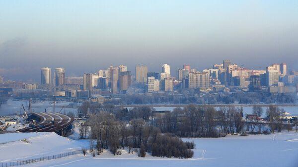Вид на правобережную часть Новосибирска