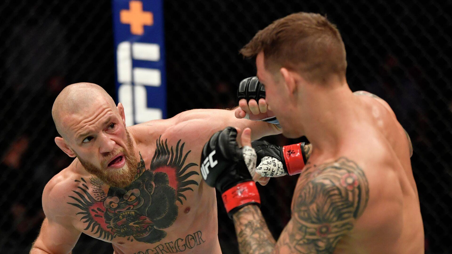 Конор Макгрегор против Дастина Порье на турнире UFC 257 - РИА Новости, 1920, 26.01.2021