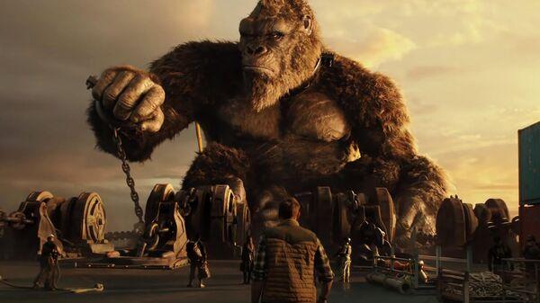 Кадр из трейлера к фильму Годзилла против Кинг-Конга