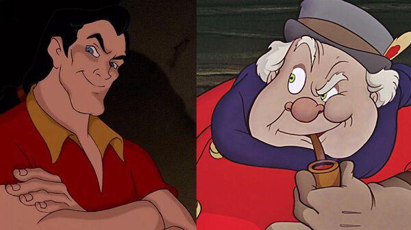 Гастон из мультфильма Красавица и чудовище / Кучер  из Пиноккио