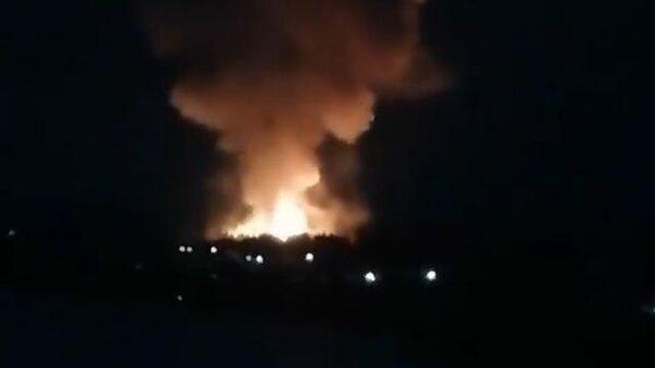 Пожар на пороховом заводе в Перми. Кадры очевидцев