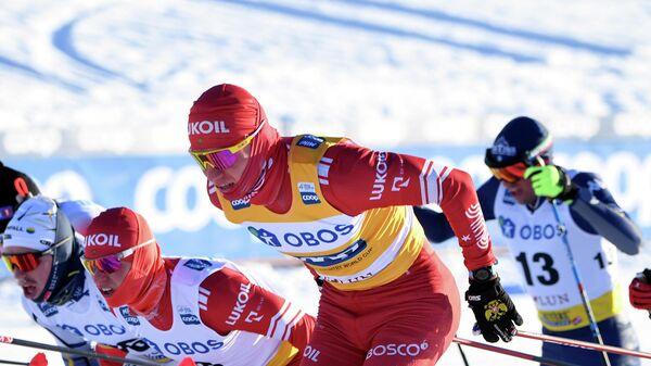 Лыжник Александр Большунов (Россия)