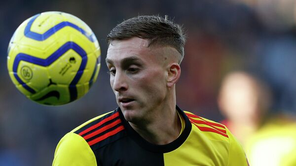 Watford's Spanish midfielder Gerard Deulofeu controls the ball during the English Premier League football match between Watford and Tottenham Hotspur at Vicarage Road Stadium in Watford, north of London on January 18, 2020. (Photo by Adrian DENNIS / AFP) / RESTRICTED TO EDITORIAL USE. No use with unauthorized audio, video, data, fixture lists, club/league logos or 'live' services. Online in-match use limited to 120 images. An additional 40 images may be used in extra time. No video emulation. Social media in-match use limited to 120 images. An additional 40 images may be used in extra time. No use in betting publications, games or single club/league/player publications. /