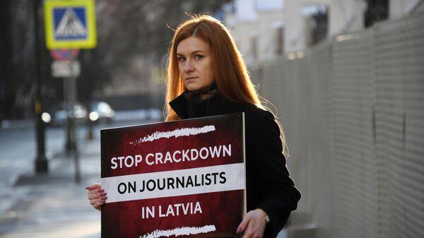 Одиночный пикет в защиту свободы слова в Москве