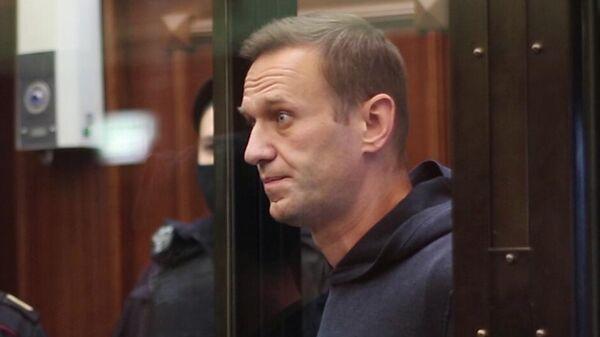 Алексей Навальный на заседании Московского городского суд. Кадр видео