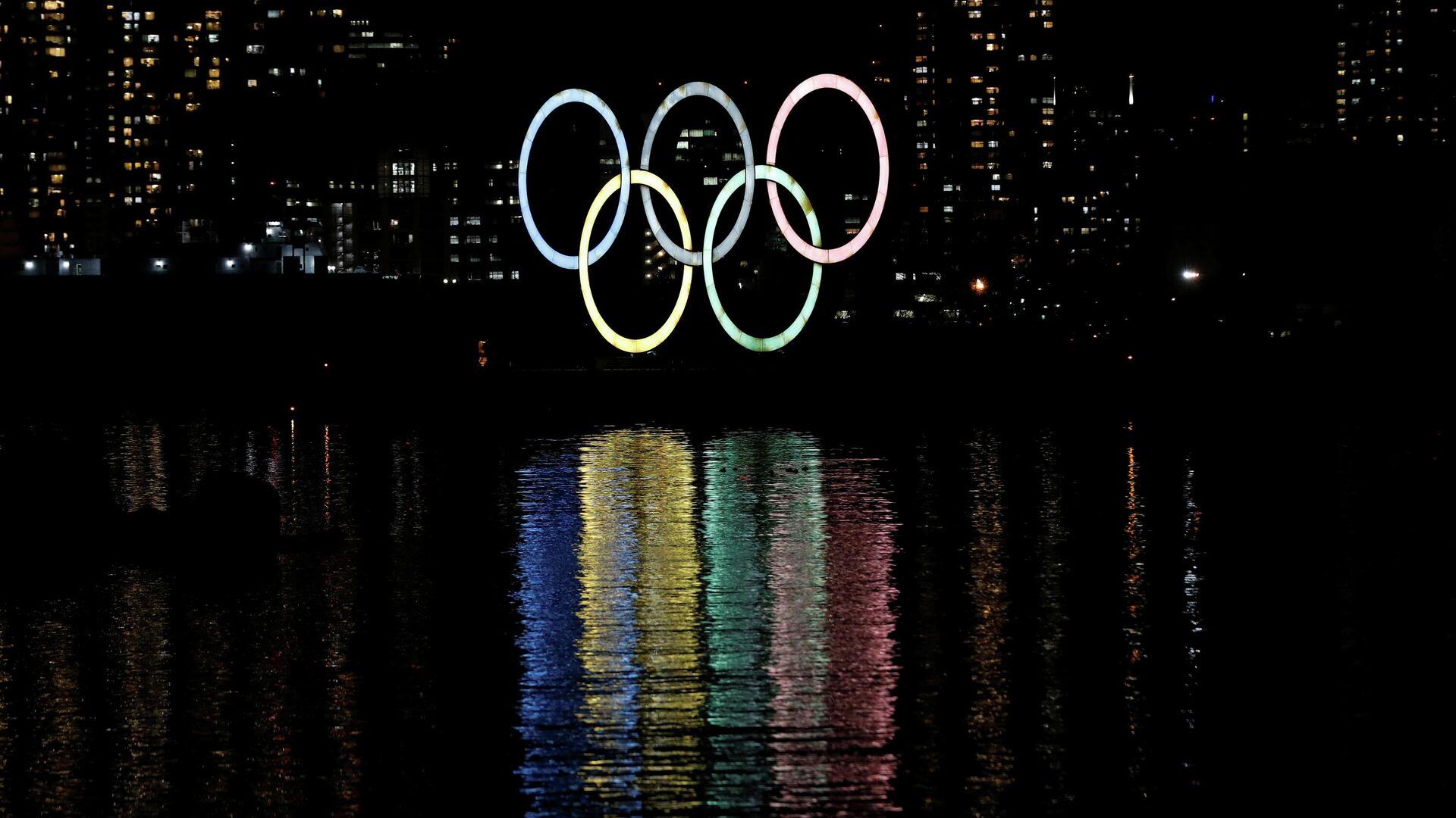 Олимпийские кольца в Токио - РИА Новости, 1920, 24.02.2021