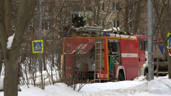 В поселке Мосрентген произошел пожар