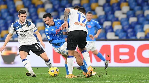 Игровой момент матча Наполи - Аталанта
