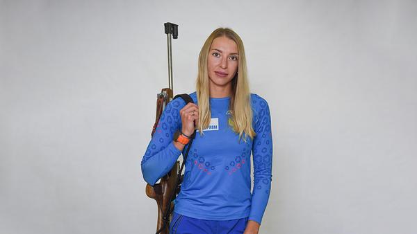 Биатлонистка Екатерина Носкова (Россия)