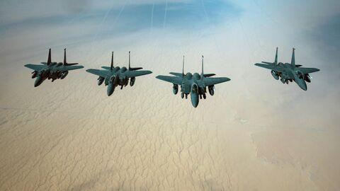 Истребители ВВС США F-15E Strike Eagle