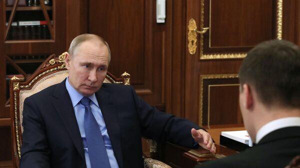 Президент РФ В. Путин встретился с врио губернатора Хабаровского края М. Дегтяревым