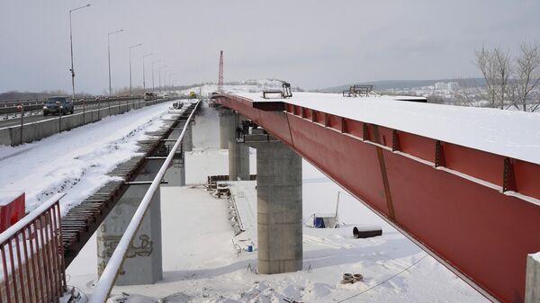 Строители завершили надвижку пролетных строений моста через реку Сок в Самаре