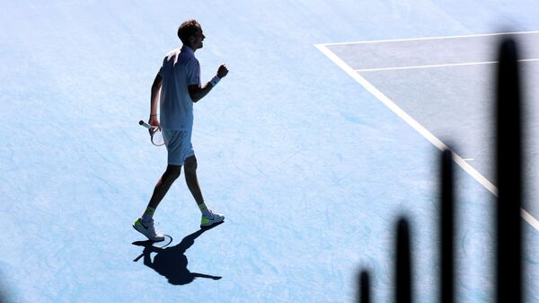 Даниил Медведев в четвертьфинальном матче Открытого чемпионата Австралии 2021
