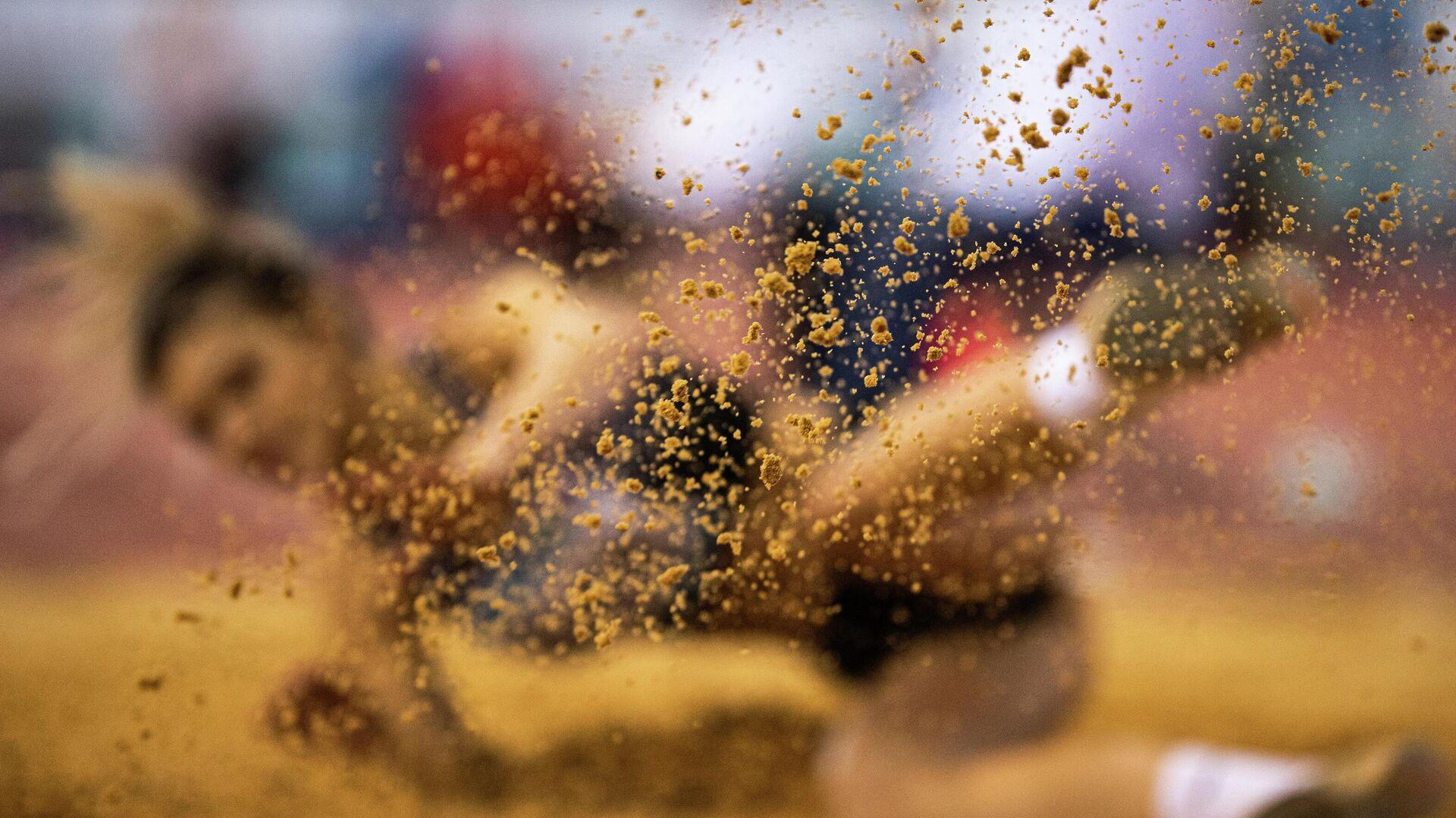 Участница соревнований по прыжкам в длину на чемпионате России по легкой атлетике в помещении в Москве. - РИА Новости, 1920, 27.06.2021